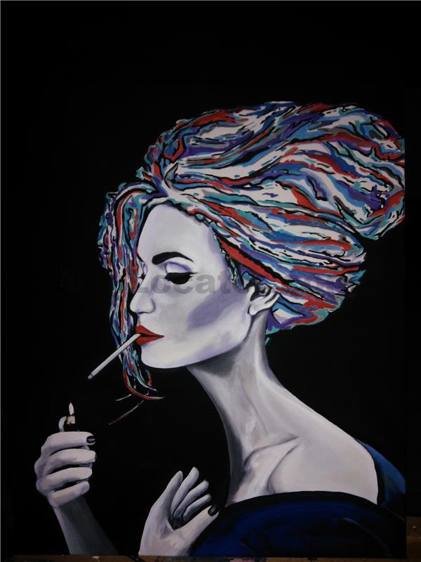 Lady s cigaretou
