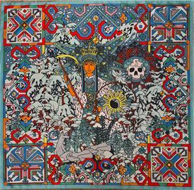 Dámský šátek s motivem bohyně Morany