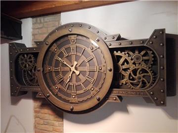 Steampunk mechanické hodiny.